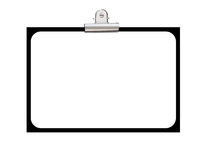 Display board. Pined display paper board with isolate background Royalty Free Stock Photo