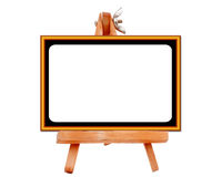 Display board. Stand in isolate background with clipping path Photo taken on: February 05th, 2009 stock photo