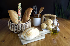 Display of bread on a table 2. Stock Images