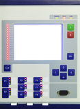 Display and buttons on control panel of electronic control device Royalty Free Stock Photo
