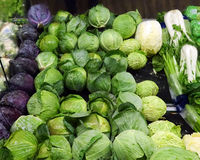 Display of cabbages Royalty Free Stock Photo
