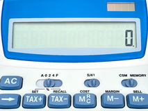 Display calculator closeup zero Royalty Free Stock Photo