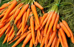Display of Carrots Royalty Free Stock Image
