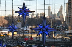 Display of Christmas decorations at Time Warner Center Shops at Columbus Circle on December 17, 2013 in New York City. Stock Image
