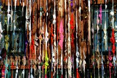 Display of Colored Bras Royalty Free Stock Images