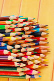 Display of colored pencils Royalty Free Stock Photo