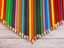 Display of colored pencils Royalty Free Stock Photography