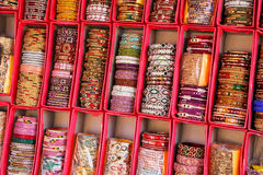 Display of colorful bangels inside City Palace in Jaipur, India Stock Photography