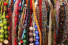 Display of colorful beads necklaces, New Delhi Stock Photos