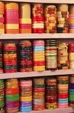 Display of colorful bracelets, Bundi, Rajasthan, India Stock Photography