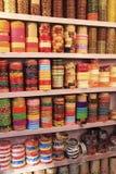 Display of colorful bracelets, Bundi, Rajasthan, India Stock Images