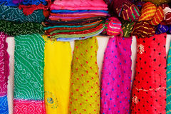 Display of colorful scarves, Mehrangarh Fort, Jodhpur, India Stock Photography