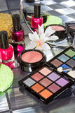Display of colourful modern make up Stock Photo