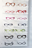 Display of colourful modern spectacles Stock Photo