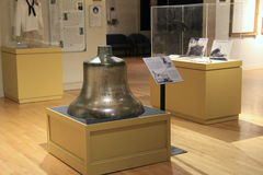 Display of commissioned 1893 bell,New York State Military Museum and Veterans Research Center,Saratoga,2015 Stock Images