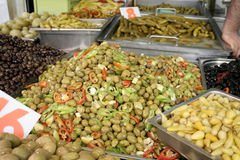 Display of different olive Royalty Free Stock Photos