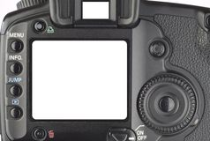 Display of a digital camera. Displav of a digital camera,viewfinder, free picture space Royalty Free Stock Photography