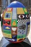 Display at The Fabergé Big Egg Hunt in New York Stock Photography