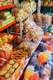 Display of food at Mercado Cuatro in Asuncion, Paraguay Royalty Free Stock Image