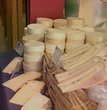 Display of French Cheese Stock Images