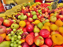 Fruit Display. A display of fresh fruit at a market Royalty Free Stock Photos