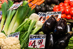 Display of Fresh Produce Royalty Free Stock Photos
