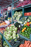 Display of fruits and vegetables Royalty Free Stock Photography