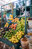 Display of fruits and vegetables Royalty Free Stock Images