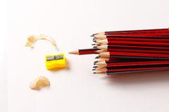 A display of a group of pencils Royalty Free Stock Photo