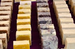 Display of handmade soaps royalty free stock photo