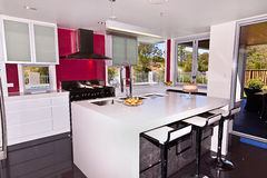 Display Home Modern Kitchen. A very modern kitchen in a brand new house Royalty Free Stock Photo