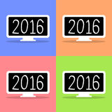 2016  Display icon set Vector EPS10, Great for any use. Stock Photo