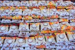 Display of indian sweets at the street market, Pushkar, India Stock Image