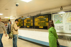 Display information and subway map. Stock Photos