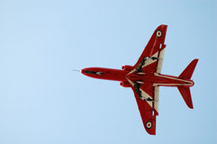 Display jet. Red Arrows display jet showing undercarriage Royalty Free Stock Image