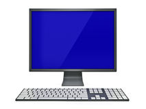 Display and keyboard. An lcd flat panel display with a keyboard Royalty Free Stock Images