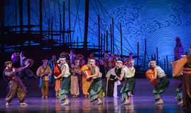 """Display of lacquer-Dance drama """"The Dream of Maritime Silk Road"""". Dance drama """"The Dream of Maritime Silk Road"""" centers on the plot of two royalty free stock photos"""