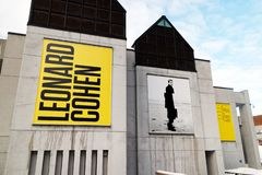A Leonard Cohen exhibition in Montreal stock images