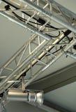 Display Lighting. Lightweight metallic lighting display structure stock photography