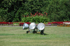 Display Lighting in Public Garden Royalty Free Stock Images