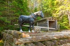 A display at a logging museum in northern ontario Stock Photo