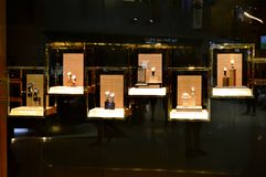 Display of Luxury Watches Stock Photos
