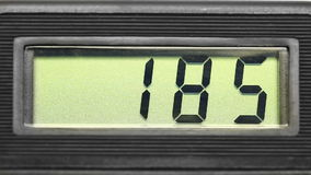 Display of the measuring device. Royalty Free Stock Image