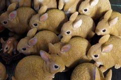 Display of Model Rabbits Stock Image