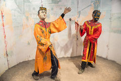 Display models in mask and drama costume Royalty Free Stock Photo