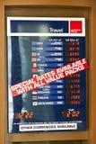 Display of Money Exchange Stock Image