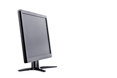 Display monitor computer display on white background  hardware  desktop technology isolated Royalty Free Stock Images