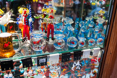 Display of Murano glass  Stock Images