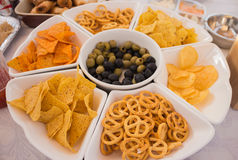 A display of nibbles. Stock Photography