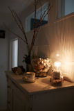 Display Of Objects On Cupboard In family Home Stock Photography